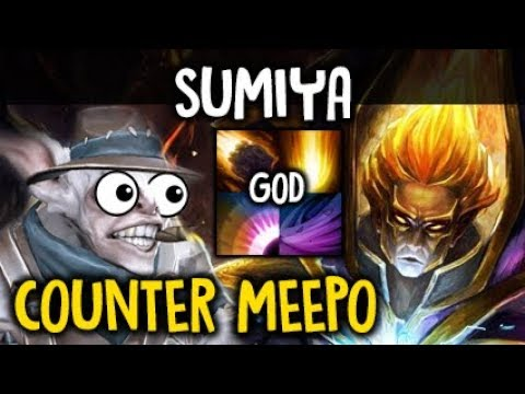 SumiYa Invoker God Easy COUNTER MEEPO Epic Combo Boss Dota 2