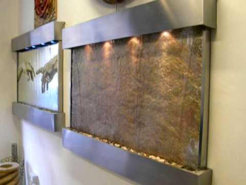 Fontana muro dacqua oro rame argento - YouTube