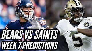 CHICAGO BEARS VS NEW ORLEANS SAINTS PREDICTIONS