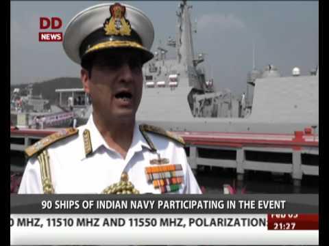 International fleet review, 90 Navy ships participating