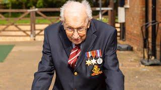 video: Captain TomMoore thanks public as Second World War veteran raises £12 million for NHS