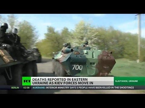 Five killed by Ukrainian forces near Slavyansk
