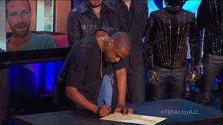 Jay Z's Tidal music service makes star-studded splash