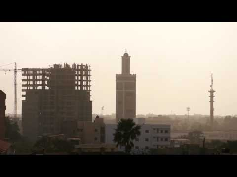 13 Dakar's skyline with mosque and construction in progress