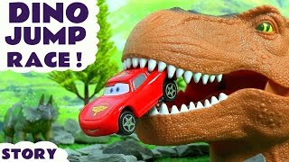 Disney Cars Toys McQueen and Hot Wheels Superheroes Dinosaur Stunt Jump Toy Story Race TT4U
