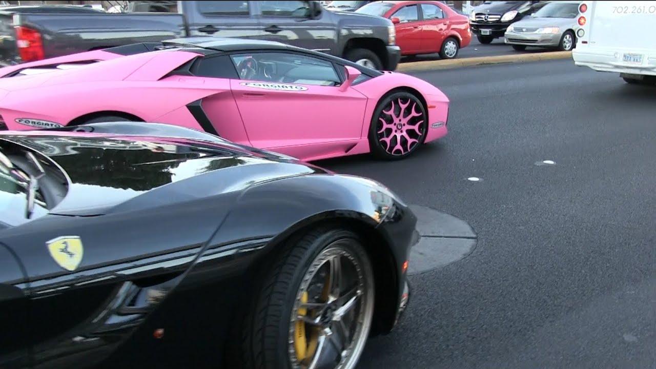 Nicki Minaj S Pink Lamborghini Aventador Roadster With A