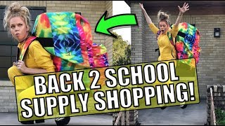 Back To School Supply Shopping ft World