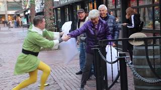 Pillow Fights with Strangers ft. Buddy the Elf