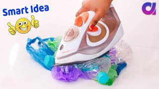 5 Genius Plastic bottle crafts ideas to make in 5 minutes | Artkala 453