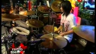 Antonia Yayang (Mel Shandy and Sexy Rock) Quick Drum Solo @Radio_Show TvOne