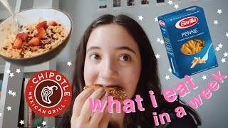 a *very realistic* what i eat in a week