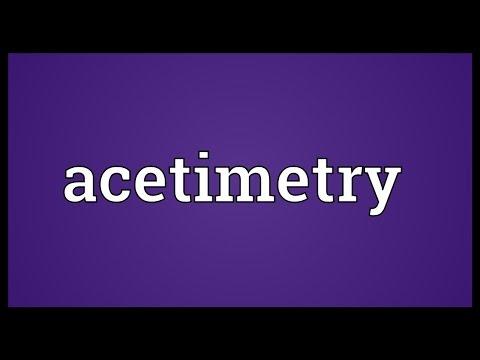 Header of Acetimetry