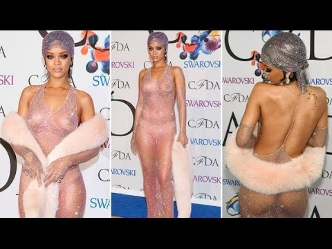 Rihanna Poster Restricted By Watchdog|Rihanna Show Her Boobs In CFDA Awards|Hollywood Actress Nude