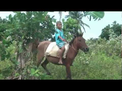 Filipino Boy Shows His Horse Riding Skills