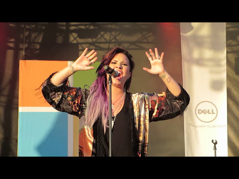 Demi Lovato Stay Cover - Microsoft Concert (HD)