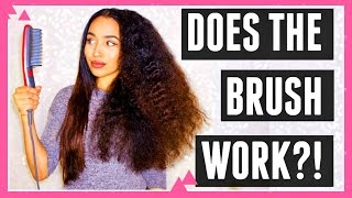 CURLY TO STRAIGHT TUTORIAL with STRAIGHTENING BRUSH?! | Lana Summer