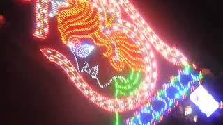 pooja flower and light decoration