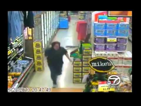 Grocery Store Worker Reacts To Earthquake