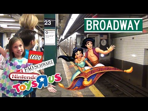 SUPER TOY STORES & Broadway's ALADDIN! New York PART 3