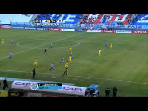 Godoy Cruz goleó en el debut de Heinze