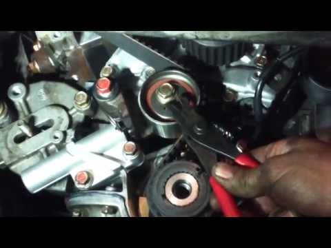 Timing belt replacement Mitsubishi Diamante 3.5L V6 1997 - 2004 water pump Install Remove Replace