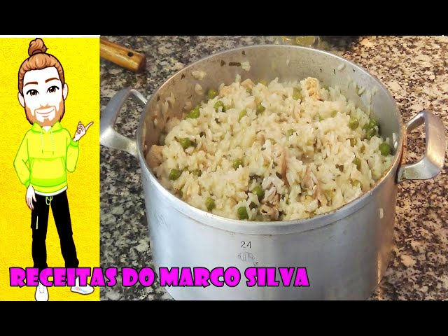 receita de arroz de frango com ervilhas no forno