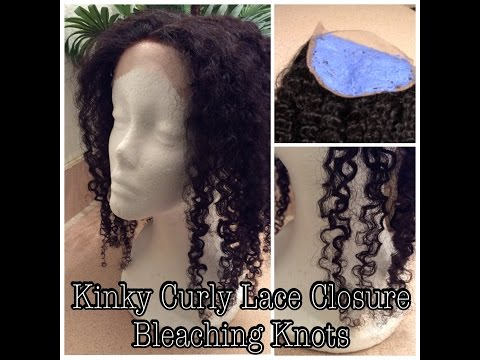 BLEACHING KNOTS   Aliexpress Bliss Wigs   Affordable Kinky Curly Lace Closure!