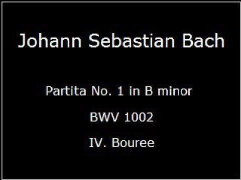 Бах Иоганн Себастьян - Bwv 1002 Bourree