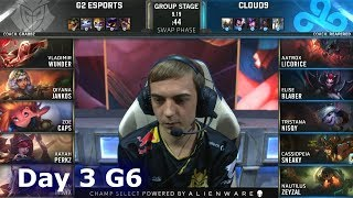 G2 vs C9 | Day 3 S9 LoL Worlds 2019 Group Stage | G2 eSports vs Cloud 9