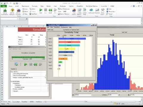 Excel simulation Show-Down (Part 1) - Crystal Ball Additive Model Tutorial