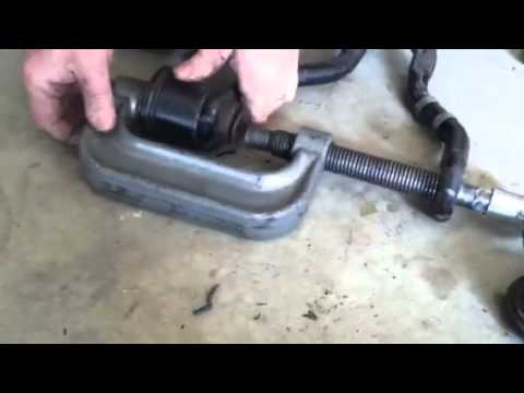 How to replace upper control arm bushings on a 95 Chevy/gmc