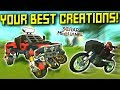 YOUR BEST BUILDS! [Transforming Motorbike?] - Scrap Mechanic Gameplay
