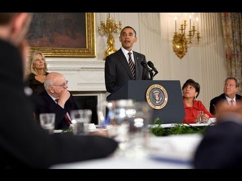 Screenshot from President Obama Meets with Economic Recovery Advisory Board