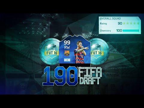 190 RATED CHALLENGE!!! FUT DRAFT CHALLENGE - FIFA 16 ULTIMATE TEAM ITA
