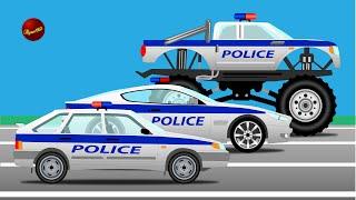 Мультики про машинки. Полиция, монстр траки и гонки. Машины для детей на русском.