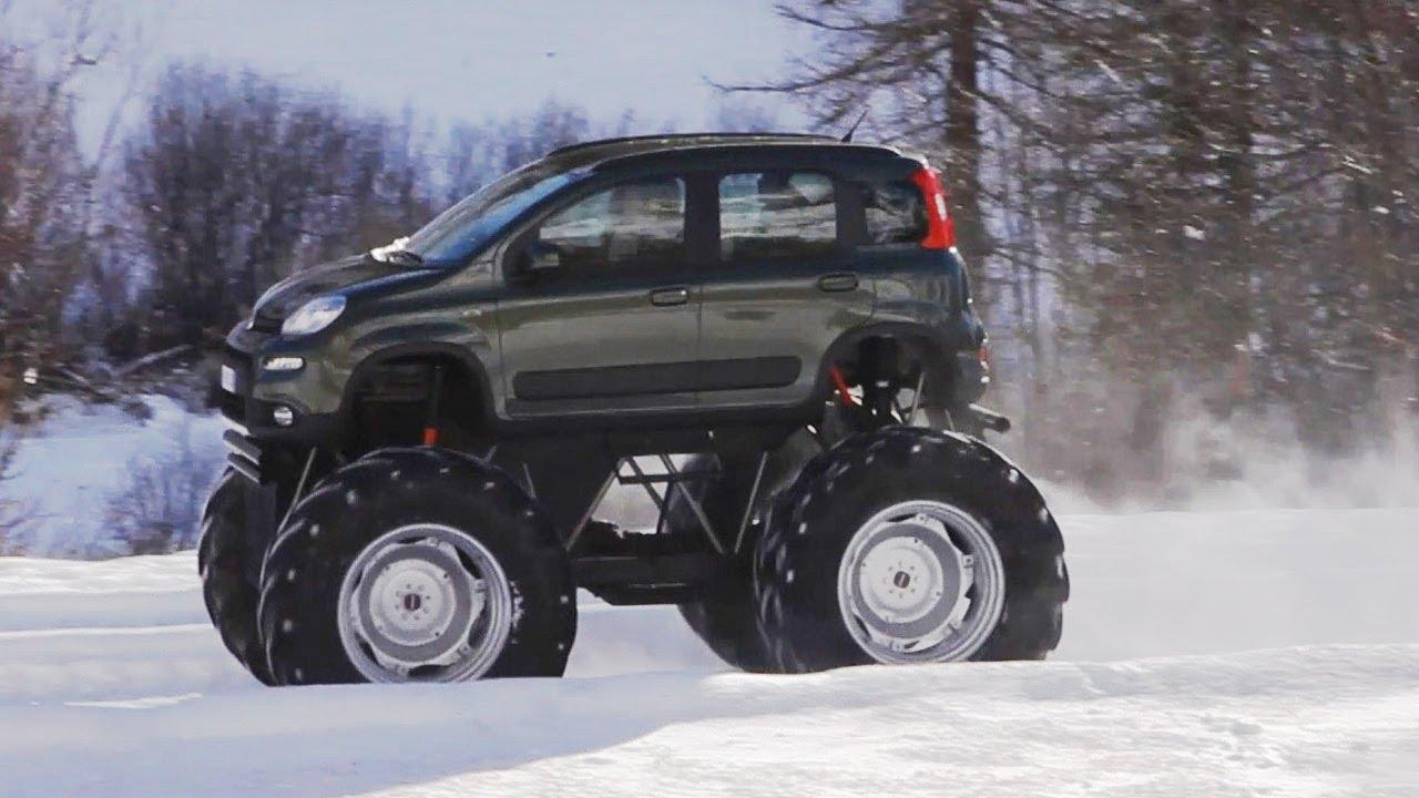 Jeep 4 Lift Kit Fiat Panda Monster Truck - YouTube