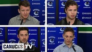 Dorsett, Gudbranson, Stecher, Hutton Media Availability (Apr. 11, 2017)