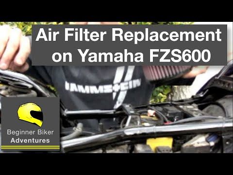 Beginner Biker Adventures - Replacing Air Filter on FZS600