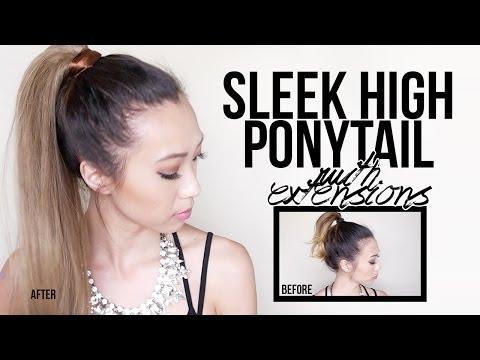Sleek High Ponytail Tutorial (with extensions)