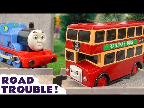 Thomas The Tank Engine and Bulgy the Red Bus in Road Trouble with Tom Moss TT4U