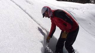 Avalanche Safety training (ATS Level 1): Slab test exercise