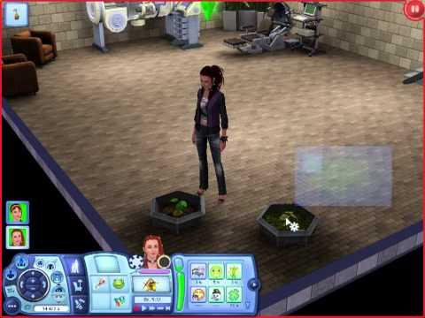 Как создать растамана (персонажа-растение) в Sims 3 студенческая жизнь . - Видео массаж
