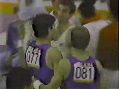 Mitch Gaylord 1984 Olympics All-Around AA finals HB High Bar Video