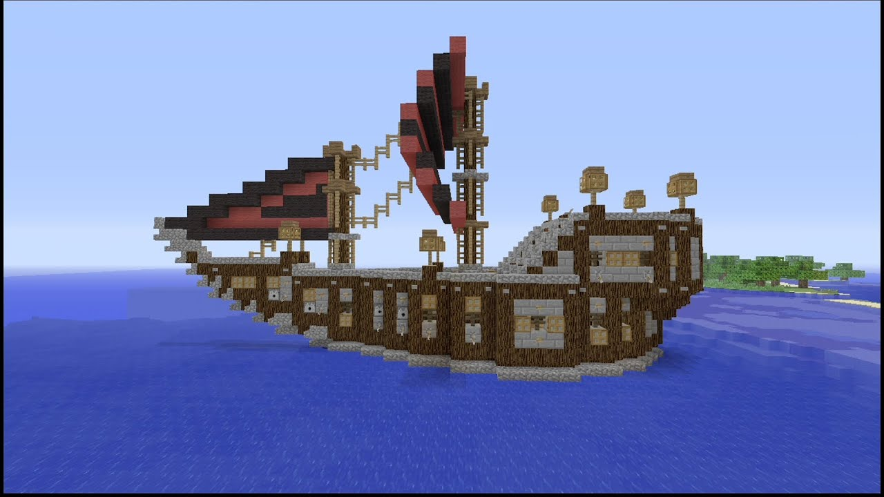 How To Build A Medieval Ship In Minecraft HD YouTube