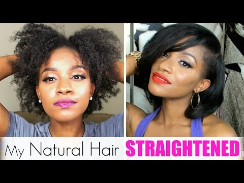 Straightening My Natural Hair│Red Pro Hybrid Titanium Review
