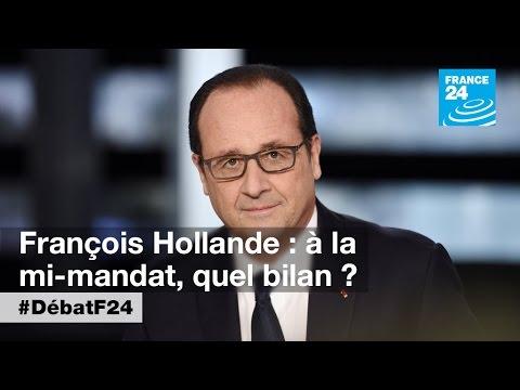 François Hollande à mi-mandat : 90 minutes pour défendre son bilan (partie 2) - #DébatF24