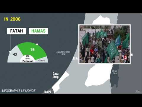 The situation in Gaza explained with a map