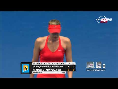 Eugenie Bouchard vs Maria Sharapova MATCH POINT Australian Open 2015