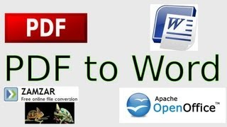 How to Convert PDF to Microsoft Word, Rich Text and Open Office Text