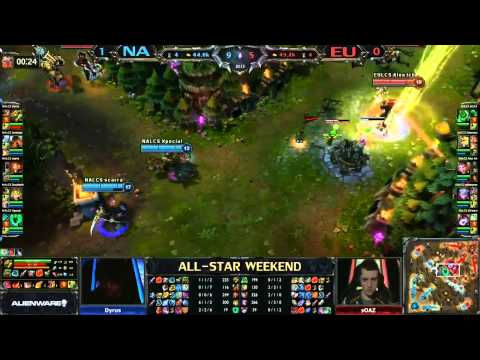 2013 ALL-STAR League of Legends NA vs EU game 2